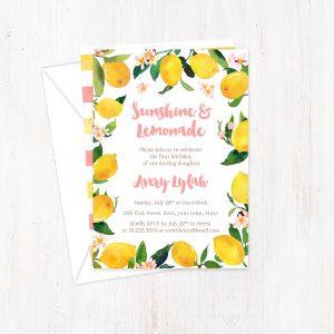 Sunshine and Lemonade Pink Yellow Cards