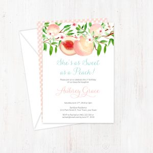 She's Sweet as a Peach invite Prints