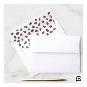 Coffee Beans Envelope Liner To Match Invitations