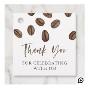 Thank You For Celebrating With Us Coffee Bean Favor Tags